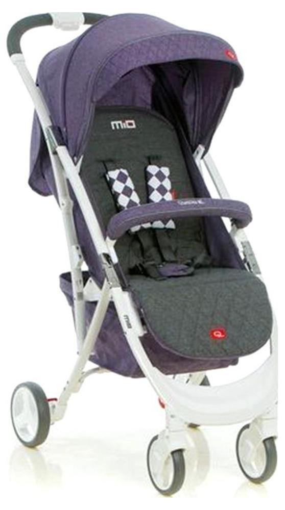 Коляска прогулочная Quatro Mio № 15 purple (графит - фиолетовый)