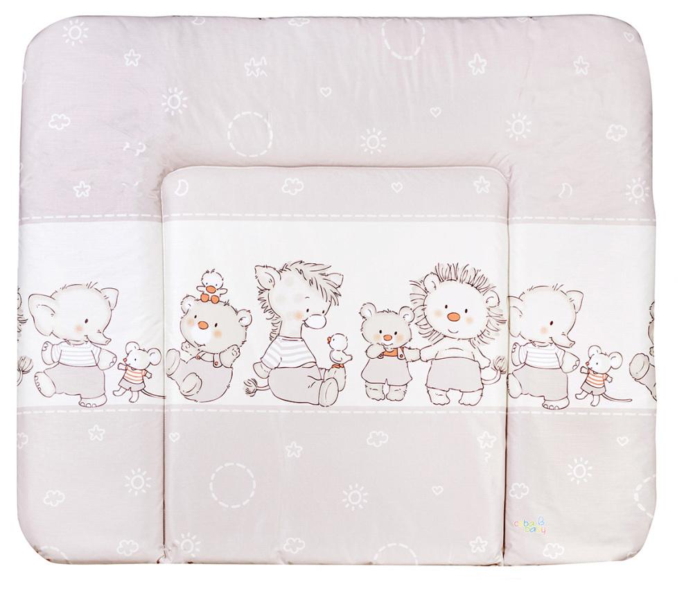 Пеленальный матрас Ceba Baby WD 85*70 multi Мишка,утка,ослик,ежик,слон