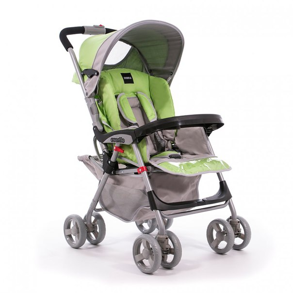 Коляска прогулочная Everflo E-301 green/grey