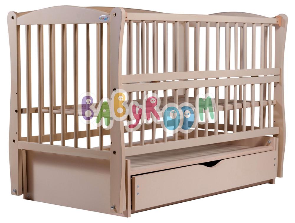 Кровать Дубок Еліт резьба маятник, ящик, откидной бок DER-7 бук слонов