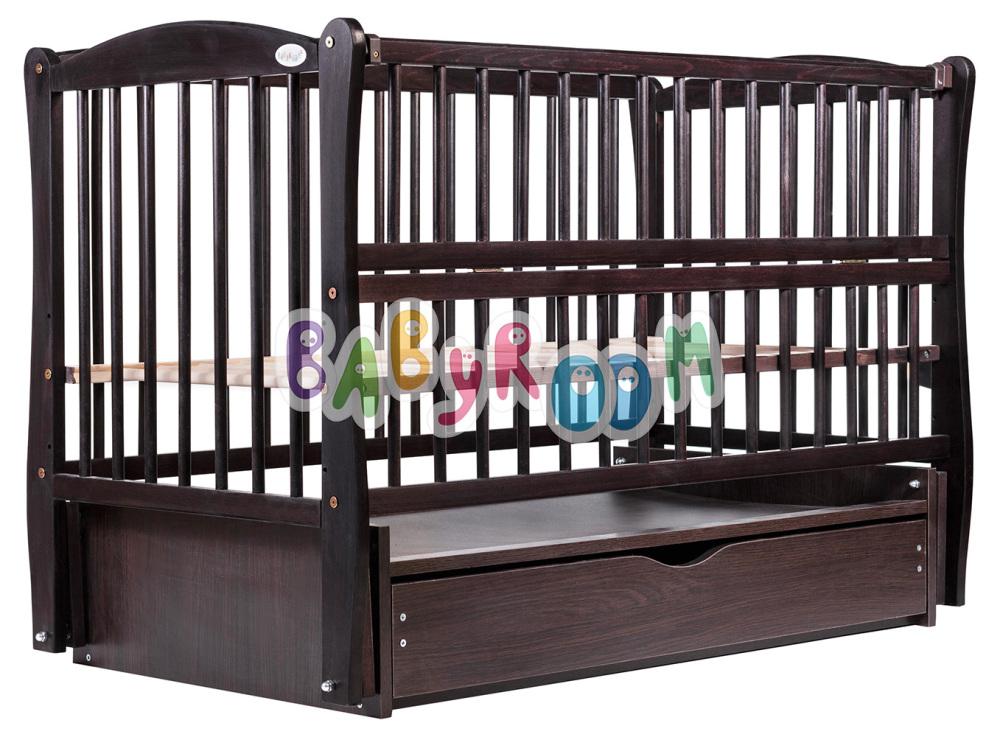Кровать Дубок Еліт маятник, ящик, откидной бок DEMYO-5 бук венге